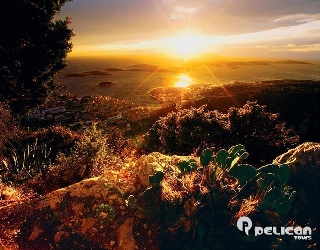 Blue Cave Tour Sunset from Hvar