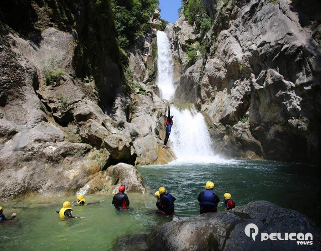 Extreme Canyoning Cliff Jumping