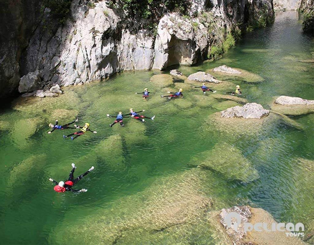 Extreme Canyoning Relaxing on Cetina