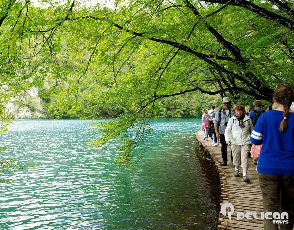 Plitvice Lakes Private Tour Walkway on The Lake